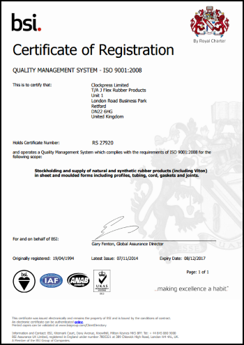 ISO Certificate 350 Outlined